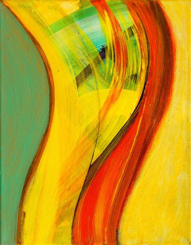 "Sway, 2016, Acrylic on canvas, 10""x8"""