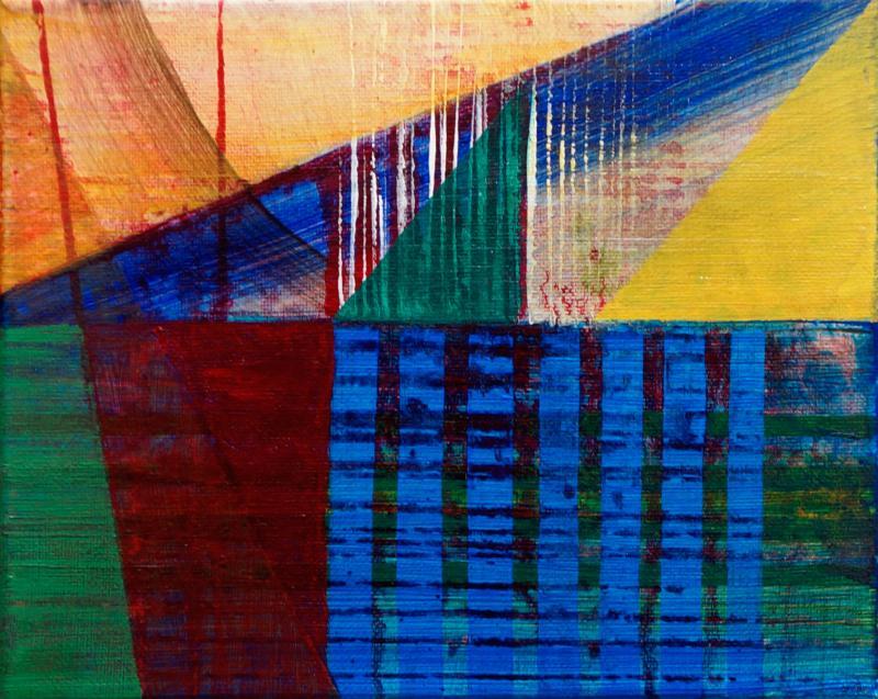 """Homestead, 2016, acrylic on canvas, 8""""x10"""""""