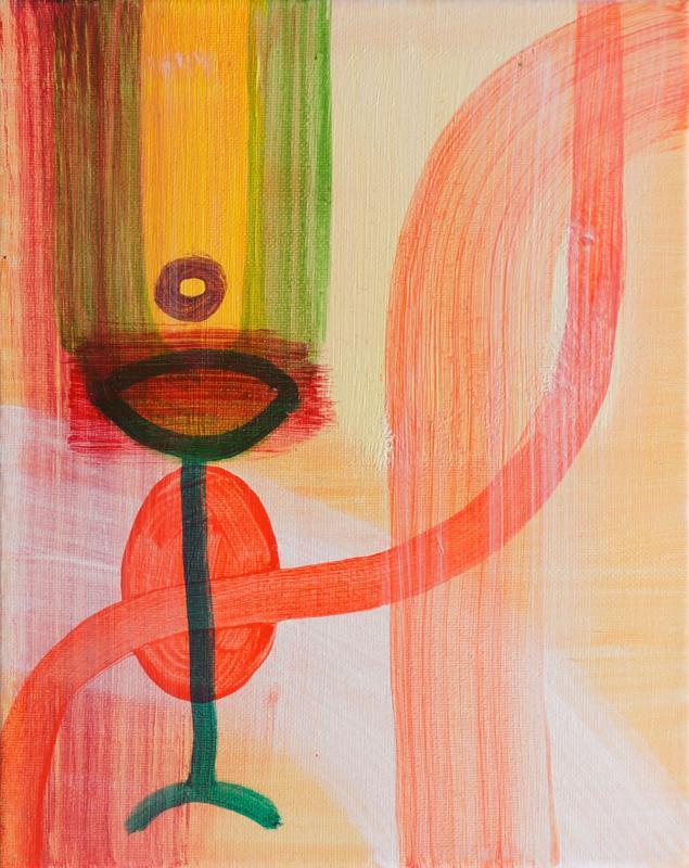 "Figure, 2016, Acrylic on canvas, 10""x8"""