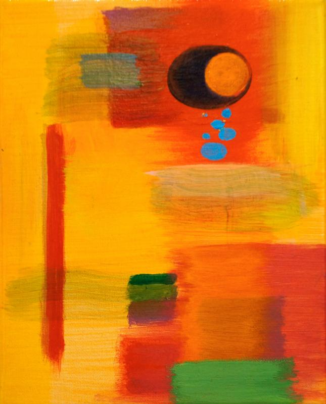 "Branch, 2015, acrylic on canvas, 10""x8"""