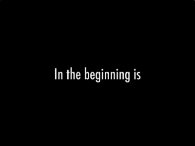 In The Beginning Is title screen