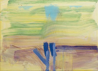"Windy, 2016, acrylic on canvas, 9""x12"""
