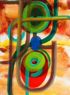 "Interrogation, 2016, acrylic on canvas, 12""x9"""