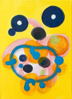 """Painting by Orin Buck, Bubble Play, 2016, acrylic on canvas, 12""""x9"""""""