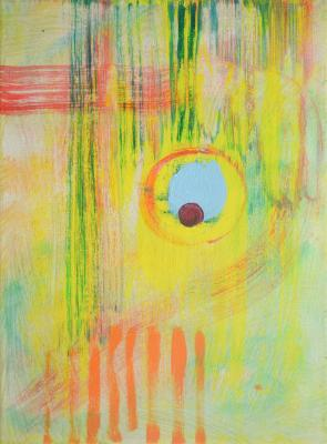 """Another Sun, 2016, acrylic on canvas, 12""""x9"""""""