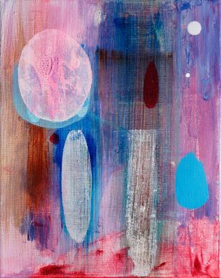 "Convocation, 2016, acrylic on canvas, 10""x8"""