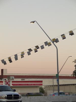 Banners at Dusk, 2007, digital photograph by Orin Buck.