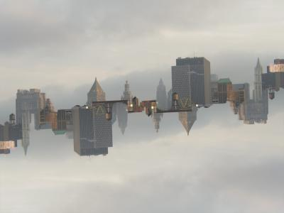 Floating City, 2007, digital photograph photoshopped by Orin Buck.